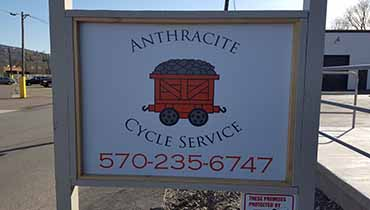 Anthracite Cycle Service Sign